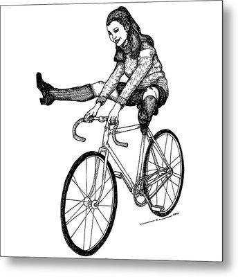 Bike Fun Metal Print by Karl Addison