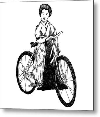 Bike Geisha Metal Print by Karl Addison