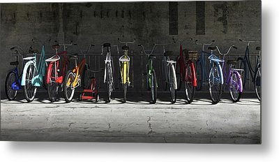 Bike Rack Metal Print by Cynthia Decker