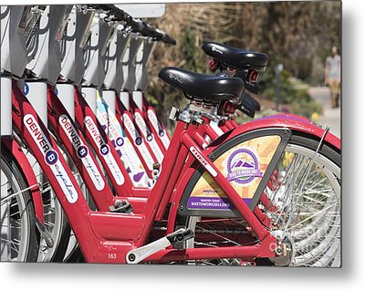 Bikes For Rent Metal Print by Juli Scalzi