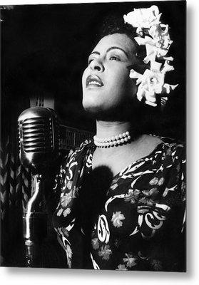 Billie Holiday Metal Print by Everett