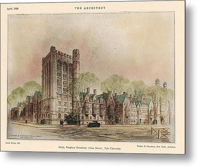 Bingham Dormitory. Yale University. New Haven Connecticut 1926 Metal Print by Walter Chambers