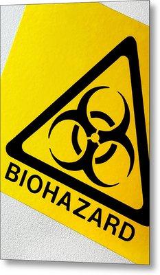 Biohazard Symbol Metal Print by Tim Vernon, Nhs Trust