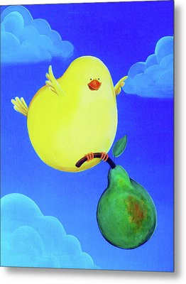 Bird In The Air Metal Print by Lael Borduin