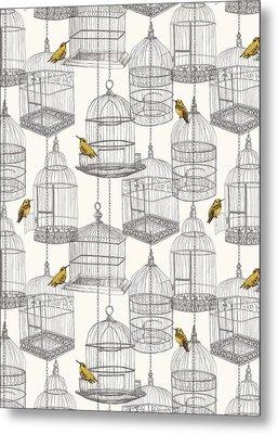 Birdcages Metal Print by Stephanie Davies