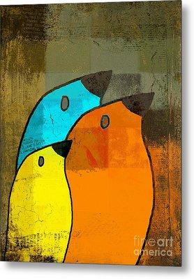 Birdies - C02tj1265c2 Metal Print by Variance Collections