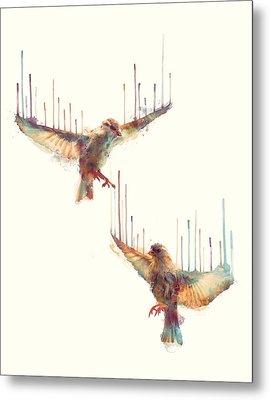 Birds // Awake Metal Print by Amy Hamilton