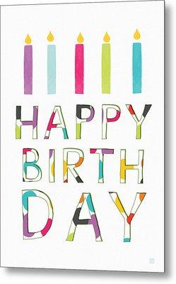 Birthday Candles- Art By Linda Woods Metal Print by Linda Woods