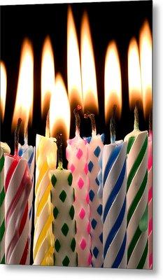 Birthday Candles Metal Print by Garry Gay