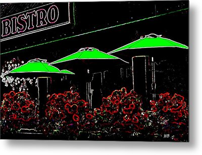 Bistro Metal Print by Will Borden