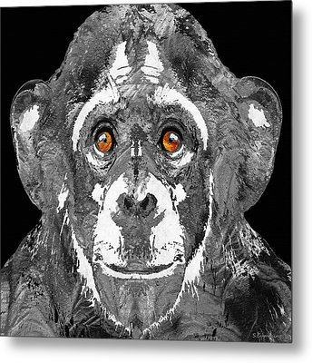 Black And White Art - Monkey Business 2 - By Sharon Cummings Metal Print by Sharon Cummings