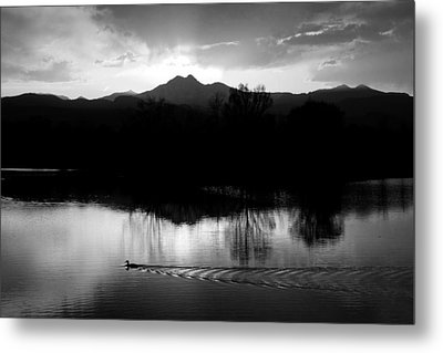 Black And White Lake Sunset Metal Print by James BO  Insogna