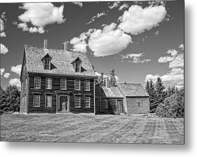 Black And White Photograph Of Olsen House Cushing Maine Metal Print by Keith Webber Jr