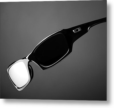 Black And White Sunglasses Metal Print by Noah Katz