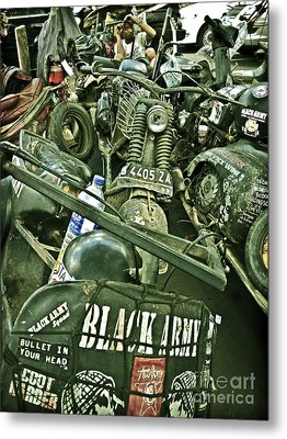 Black Army Metal Print by Charuhas Images
