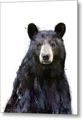 Black Bear Metal Print by Amy Hamilton