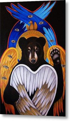 Black Bear Seraphim Metal Print by Christina Miller