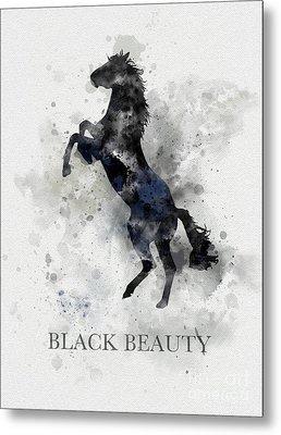 Black Beauty Metal Print by Rebecca Jenkins