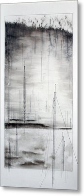 Black Breeze Metal Print by Beth Anne Martin