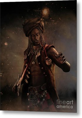 Black Caesar Pirate Metal Print by Shanina Conway