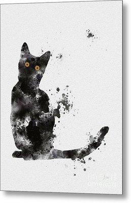 Black Cat Metal Print by Rebecca Jenkins