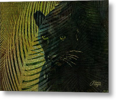 Black Panther Metal Print by Arline Wagner