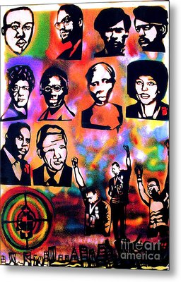 Black Revolution Metal Print by Tony B Conscious