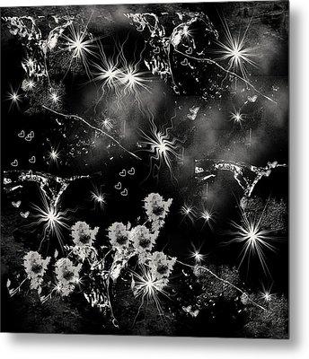 Black Square By Jenny Rainbow Metal Print by Jenny Rainbow