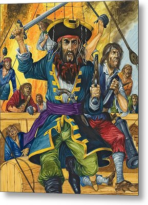 Blackbeard Metal Print by Richard Hook