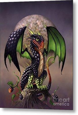 Blackberry Dragon Metal Print by Stanley Morrison