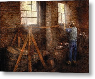 Blacksmith - It's Getting Hot In Here Metal Print by Mike Savad