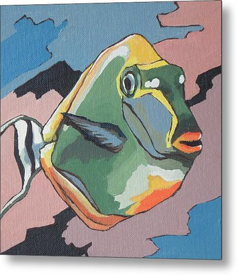 Blond Naso Tang Metal Print by Sandy Tracey