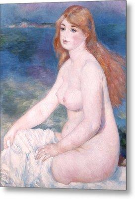 Blonde Bather II Metal Print by Renoir