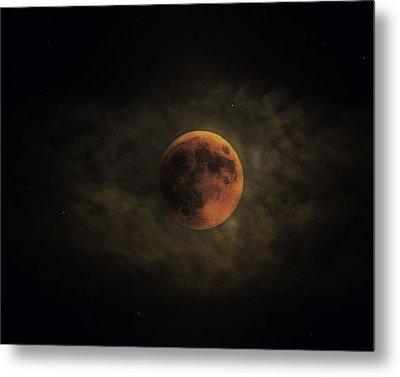 Blood Moon Metal Print by Ron  McGinnis