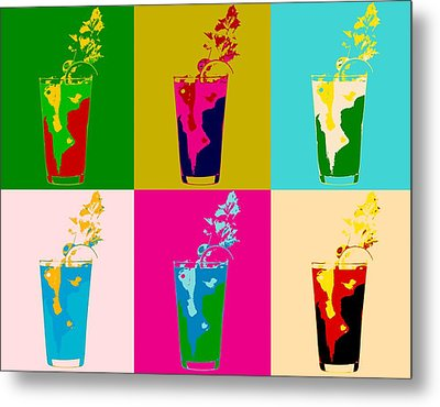 Bloody Mary Pop Art Panels Metal Print by Dan Sproul