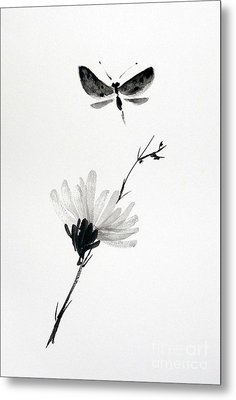 Blossomfly Metal Print by Sibby S