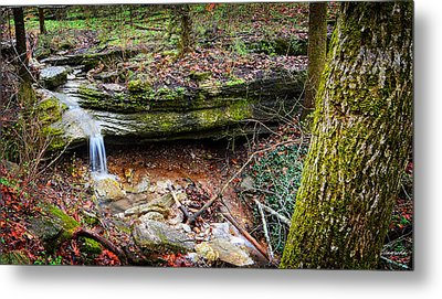 Blowing Springs Park Bella Vista Arkansas Metal Print by Lourry Legarde