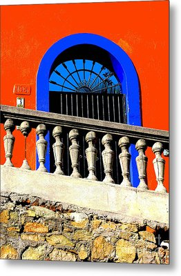 Blue Arch 1 By Michael Fitzpatrick Metal Print by Mexicolors Art Photography