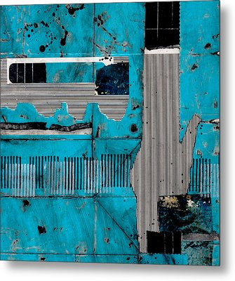 Blue Bag Ditty  Metal Print by Laura  Lein-Svencner