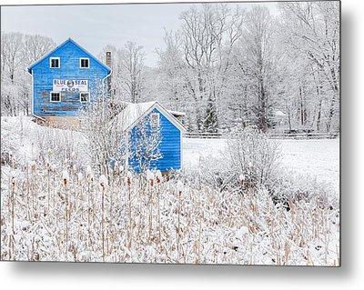 Blue Barns Metal Print by Bill Wakeley