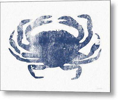 Blue Crab- Art By Linda Woods Metal Print by Linda Woods