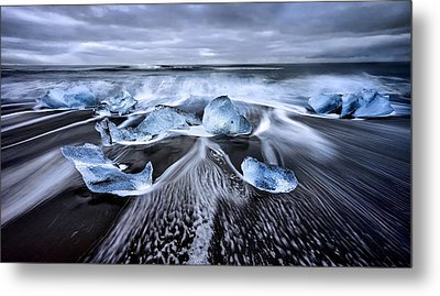 Blue Diamonds Metal Print by Jes?s M. Garc?a