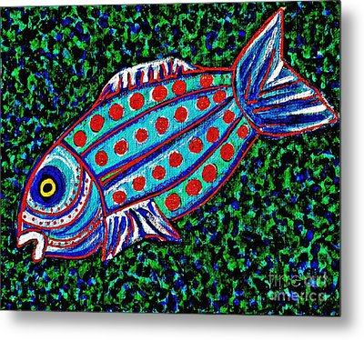 Blue Fish Metal Print by Sarah Loft