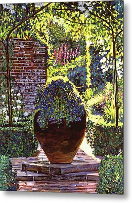Blue Flowers Metal Print by David Lloyd Glover