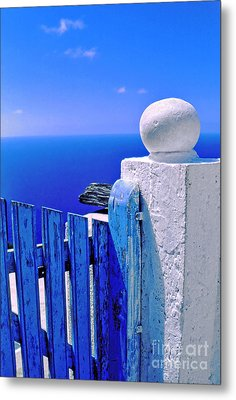 Blue Gate Metal Print by Silvia Ganora