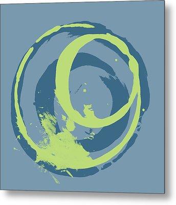 Blue Green 2 Metal Print by Julie Niemela
