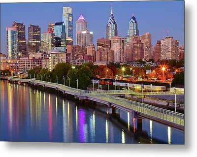 Blue Hour Along The River Walk Metal Print by Frozen in Time Fine Art Photography