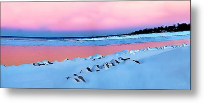 Blue Hour Sunset  Metal Print by Andrea Kollo