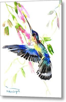 Blue Hummingbird Metal Print by Suren Nersisyan