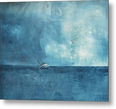 Blue Metal Print by Kristina Bros